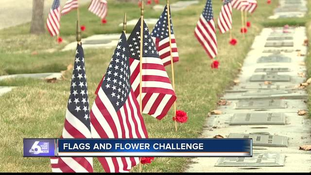 Teen encouraging others to honor veterans
