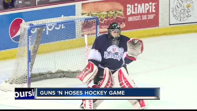 Cops And Firefighters Hit The Ice For 17th Annual Guns N Hoses Hockey Game