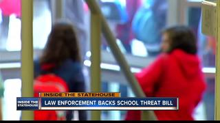 Law enforcement backs school threat bill