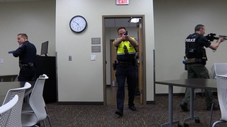 Active shooter training with Meridian Library
