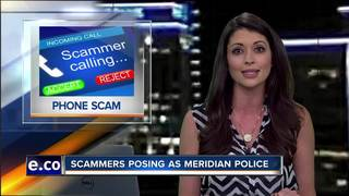 Scammers claim to be Meridian PD, ask for money