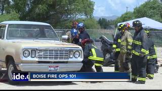 Idaho Lawmakers go through firefighter training