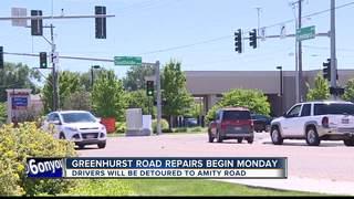Greenhurst Road closure through October