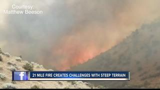 Mile-marker 21 fire burns 700 acres near Lucky P