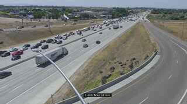 Rollover snarls I-84 traffic