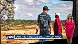 Eagle firefighter helps people in Kenya