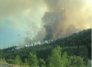 Level 3 Evacuations in place for part of Hwy 95