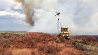 Drone spotted over Grassy Ridge Fire area