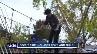 Scout Fair involves both boys and girls