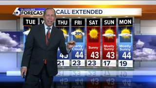 Seasonably Chilly Weather Continues