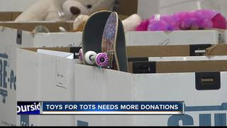 Toys for Tots donations are running low